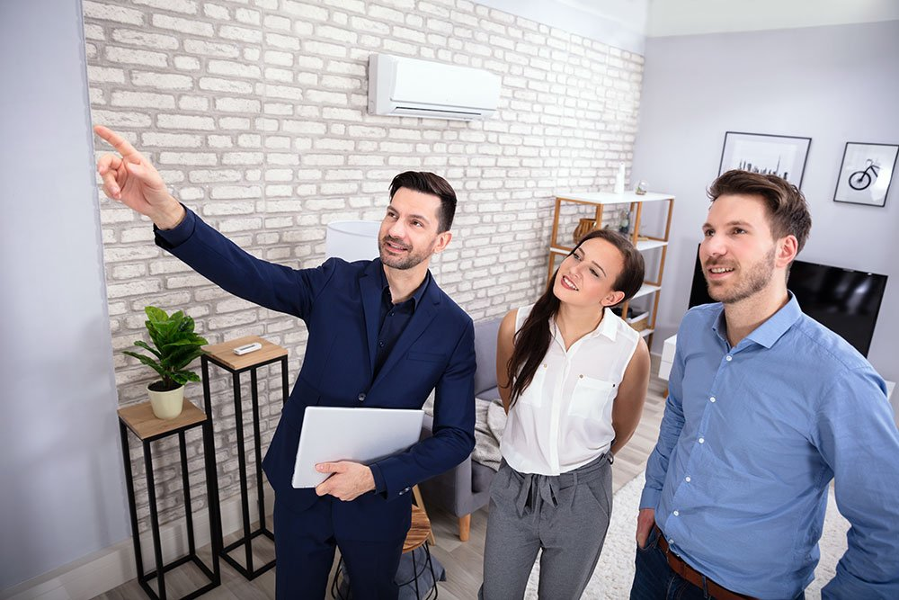 image of people talking with whiteboard